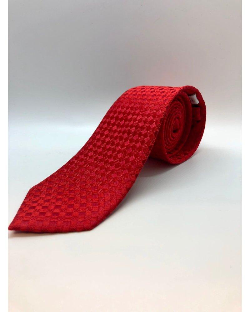 Tonal Diamond Tie Red