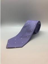 White Textured Dot Tie Lavender Polka Dot Classic
