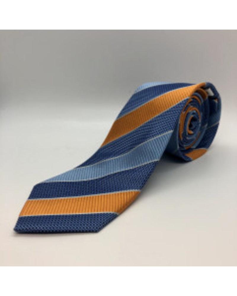 Alternating Block Stripe Tie Orange