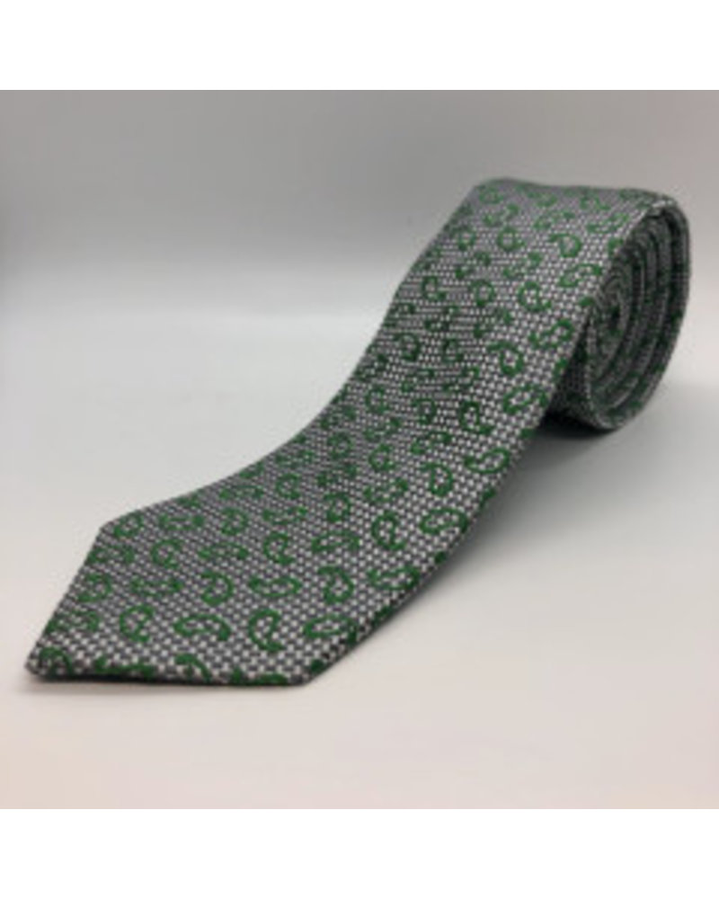Basic Paisley Tie Lime Green