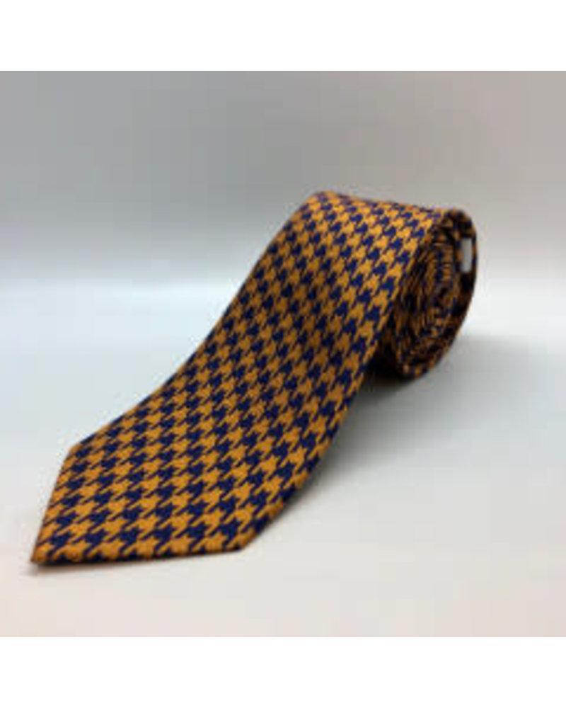 Classic Houndstooth Tie Orange