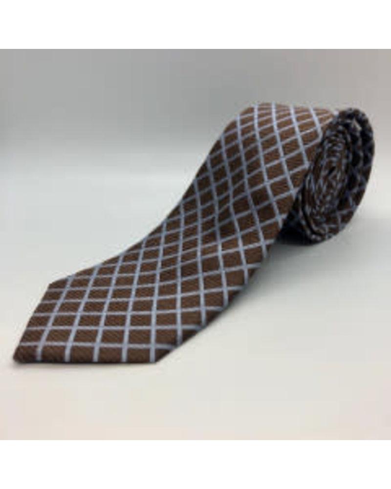 Gridlock Tie Brown