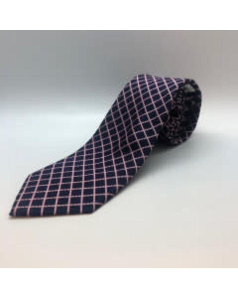 Gridlock Tie Pink