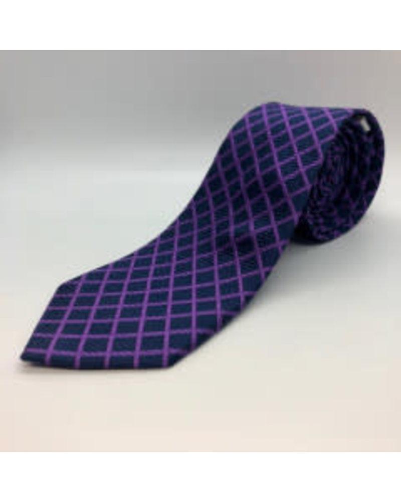 Gridlock Tie Purple