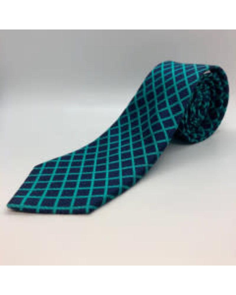 Gridlock Tie Turquoise