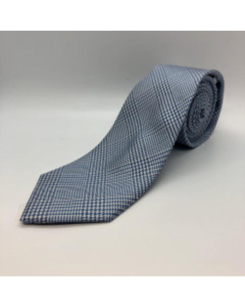 Houndstooth Plaid Tie Lt. Blue