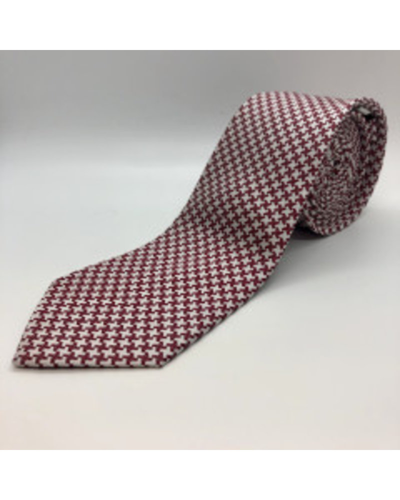 Large Houndstooth Tie Red