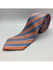 Multi Stripe Tie Orange