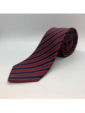 Navy Ivy Stripe Tie Burgundy