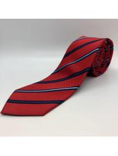 Navy Stripe Tie Red