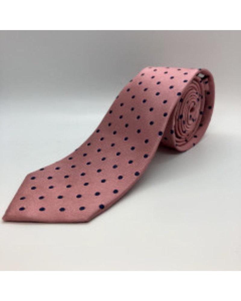 Satin Dot Tie Pink