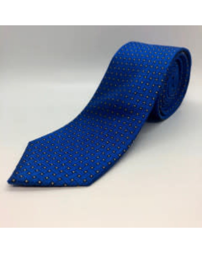 Square Weave Tie Blue