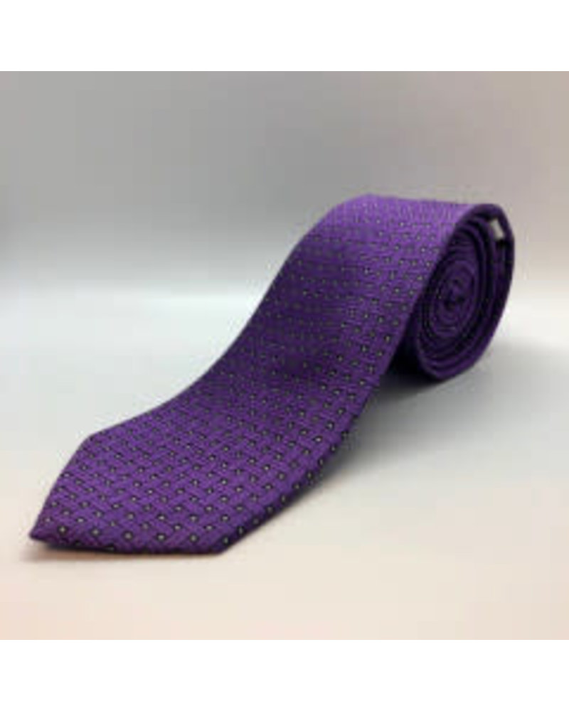 Square Weave Tie Purple