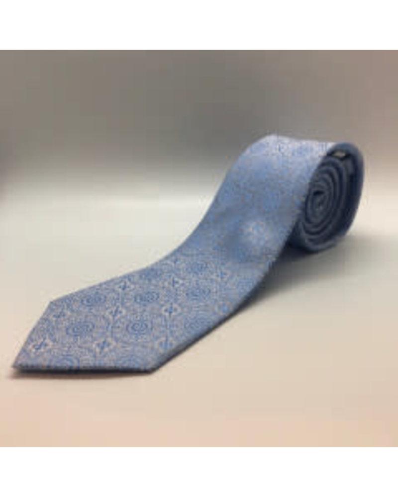 Tonal Daisies Tie Lt. Blue