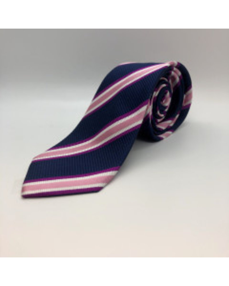 Varsity Stripe Tie Pink