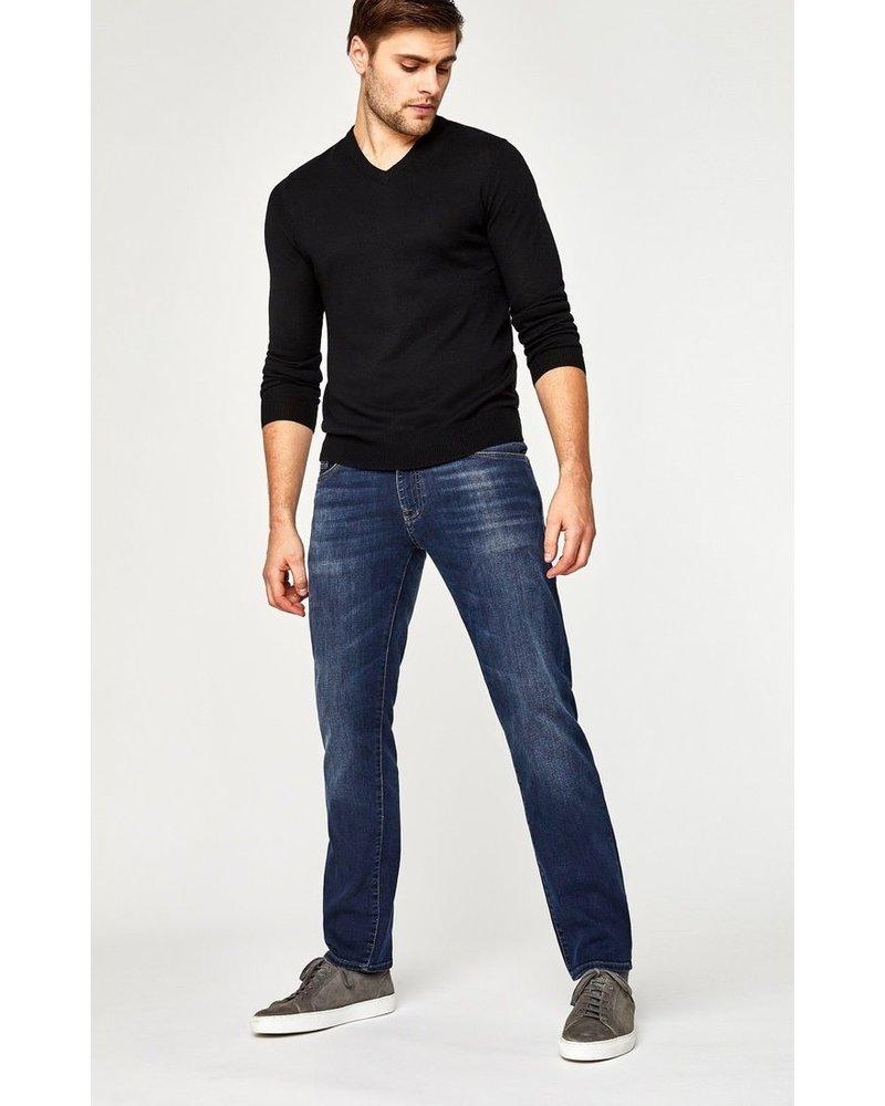 Mavi Jeans Zach Straight Leg Dark Brushed Williamsburg