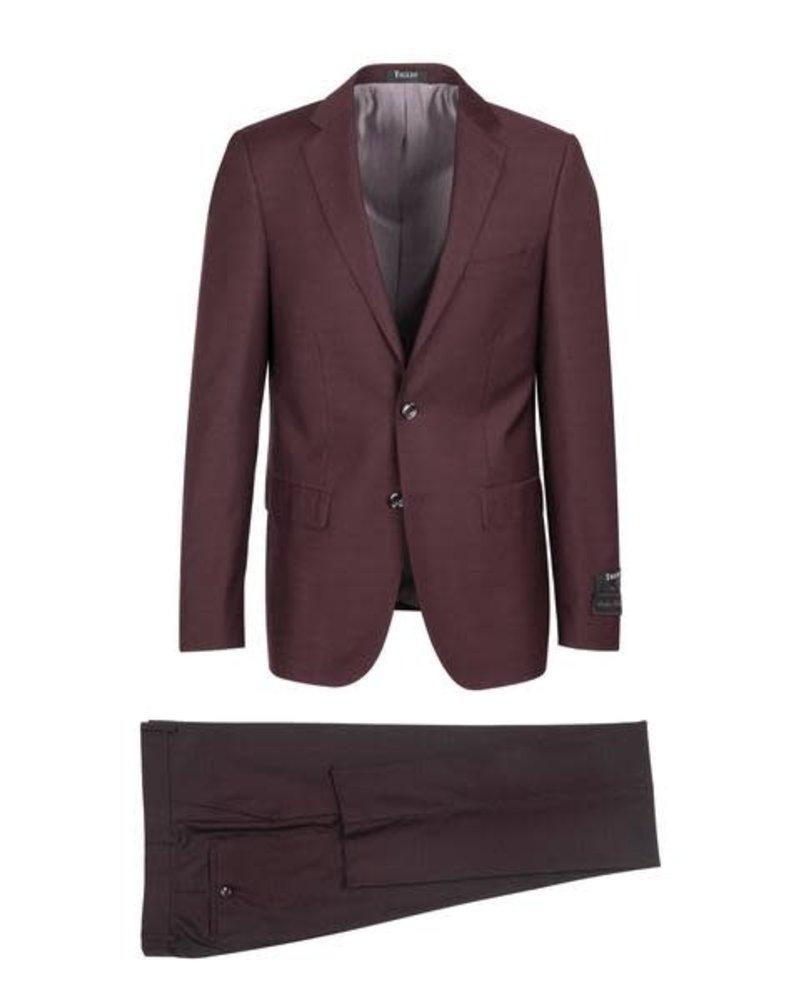 Tiglio Tiglio Porto Burgundy Slim Fit Suit