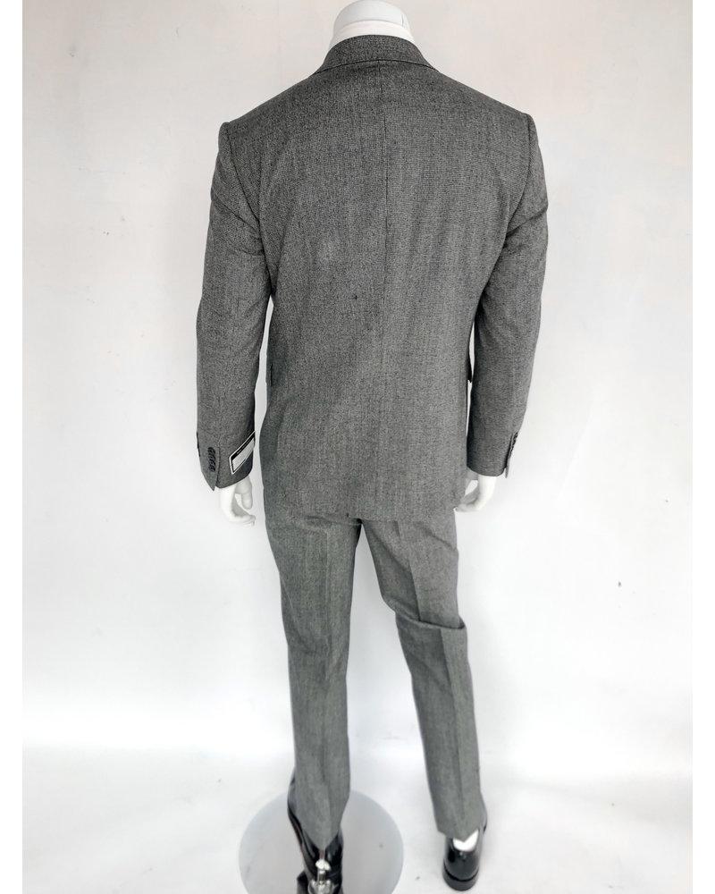 Halberstadt's Platinum Salt/Pepper Vested Suit