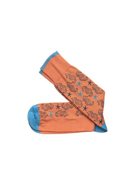 Johnston & Murphy Coral Seahorse Socks