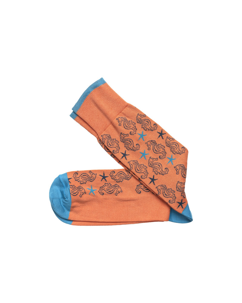 Johnston & Murphy J&M Coral Seahorse Socks