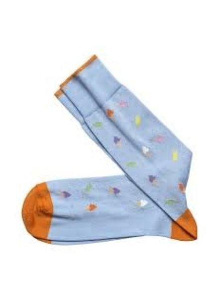 Johnston & Murphy Lt. Blue Ice Cream Cone Socks