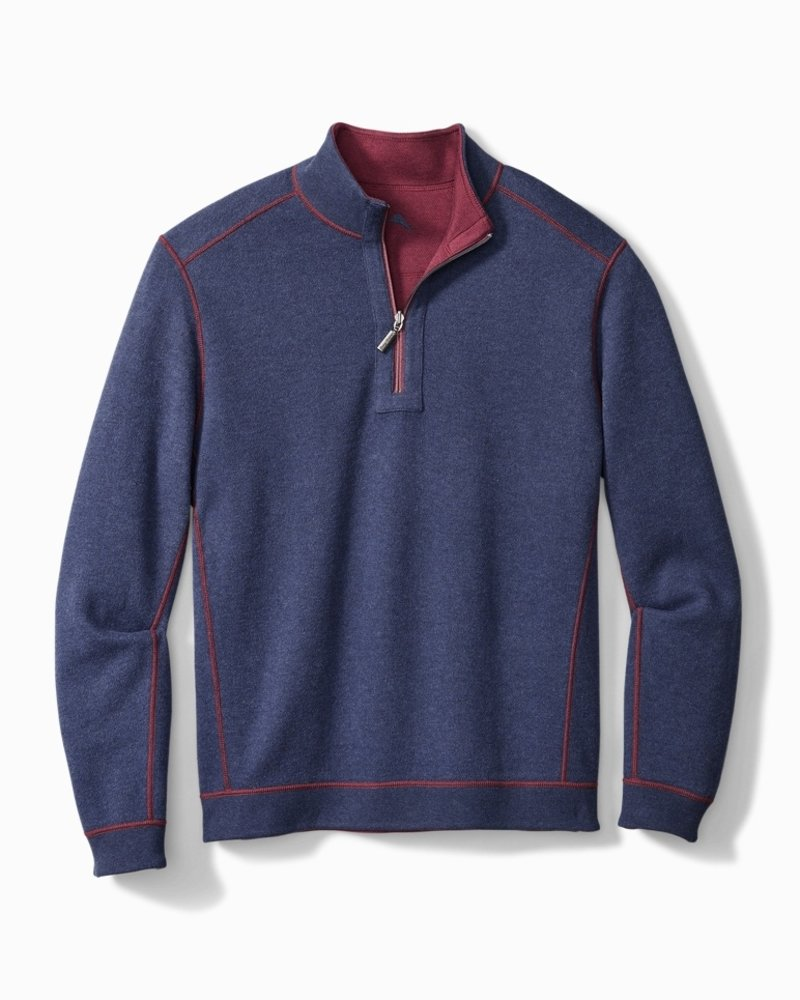Tommy Bahama Flipshore Half-Zip Reversible Sweatshirt