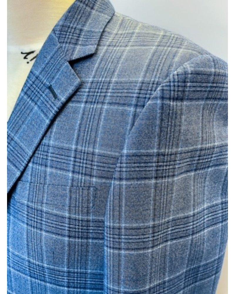 Trend Trend Blue Plaid Sport Coat
