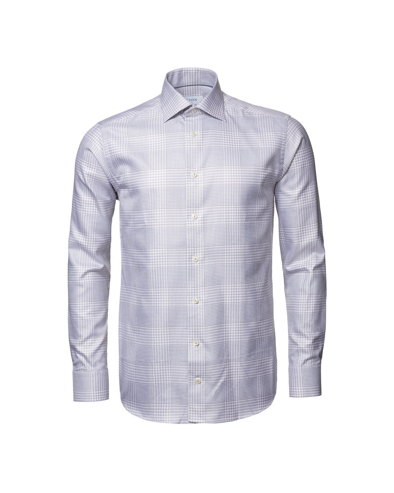 ETON Gray Checked King Twill Shirt