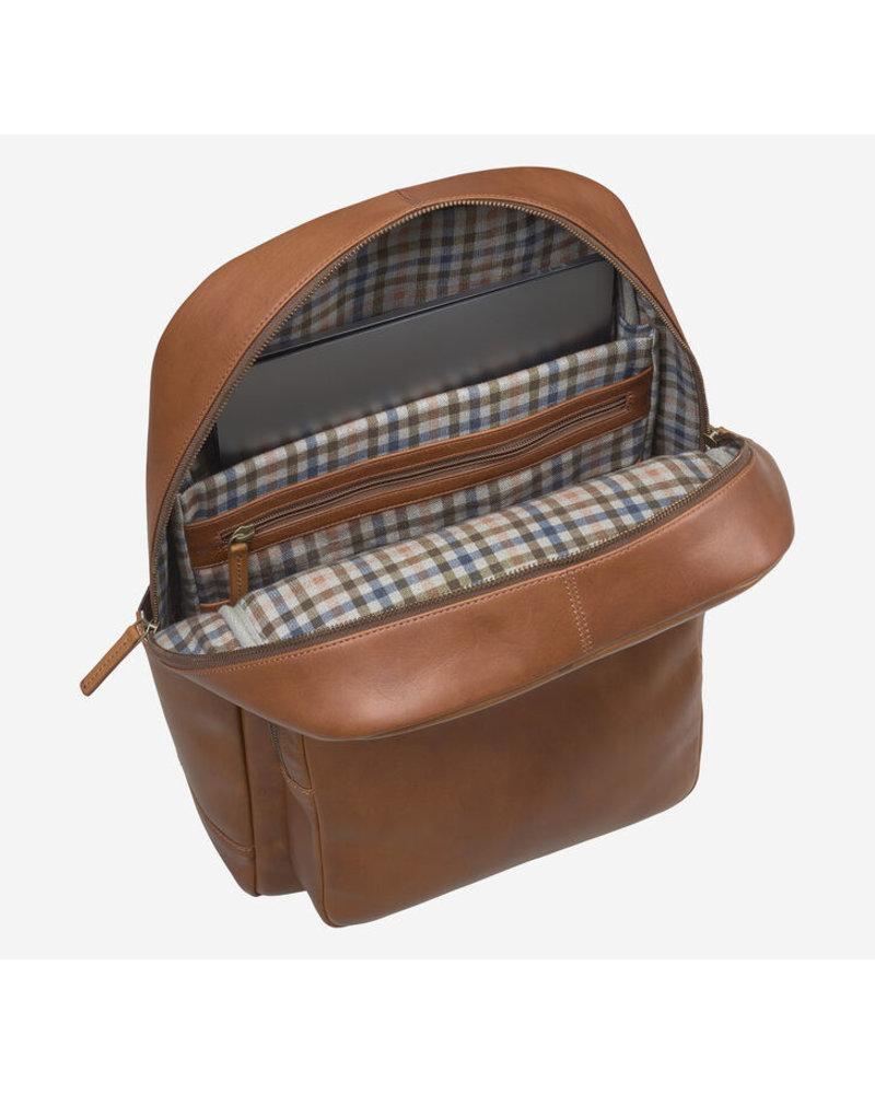 Johnston & Murphy Rhodes Backpack Tan Full Grain