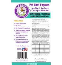 Pet Chef Express PCE Whitefish & Duck Grain Free