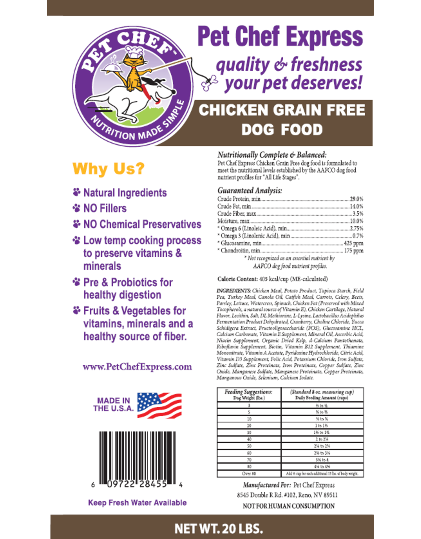 Pet Chef Express PCE Grain Free Chicken & Field Pea
