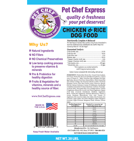 Pet Chef Express PCE Chicken & Rice