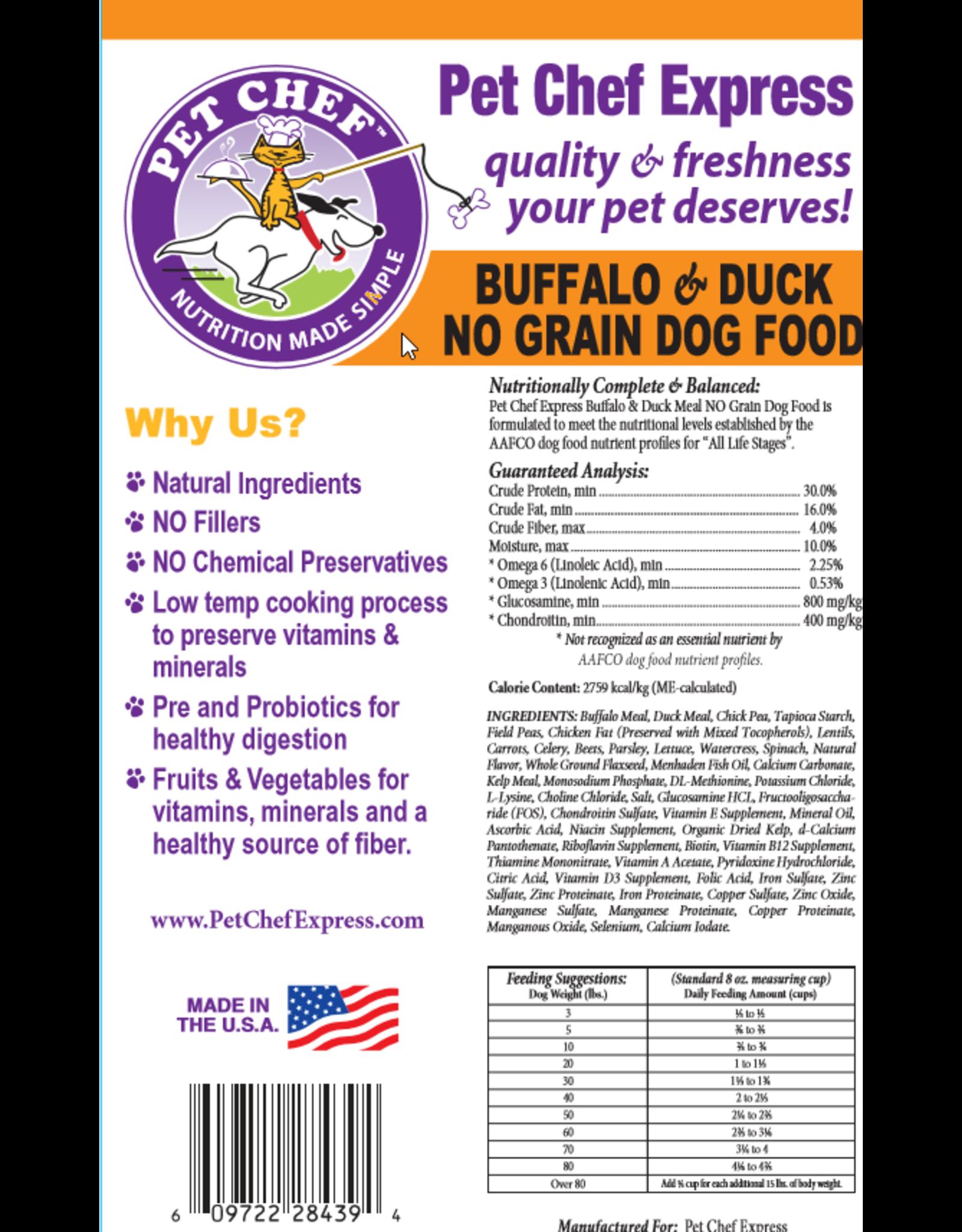 Pet Chef Express PCE Buffalo & Duck Grain Free