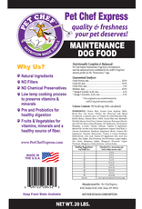 Pet Chef Express PCE Maintenance