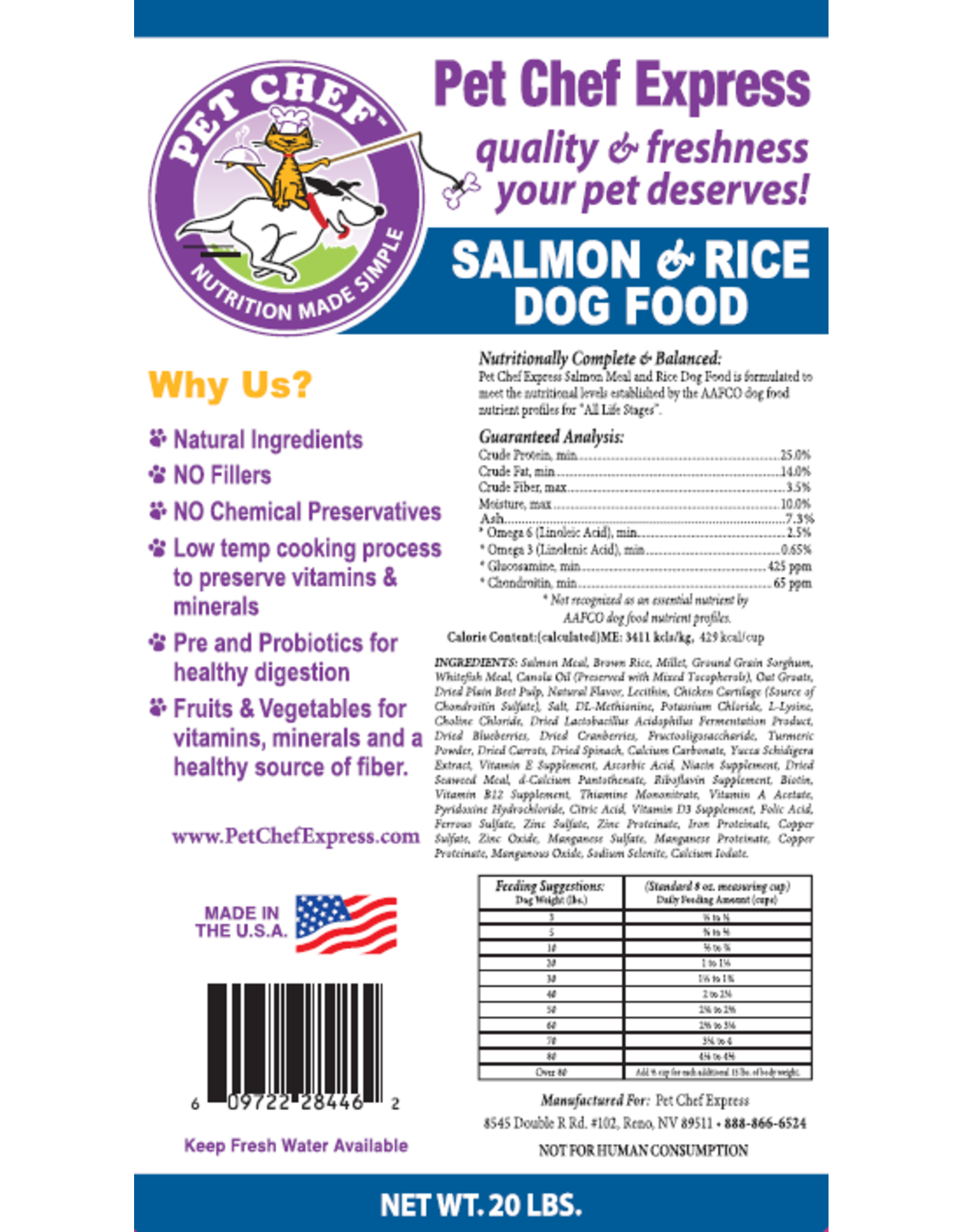 Pet Chef Express PCE Salmon & Rice