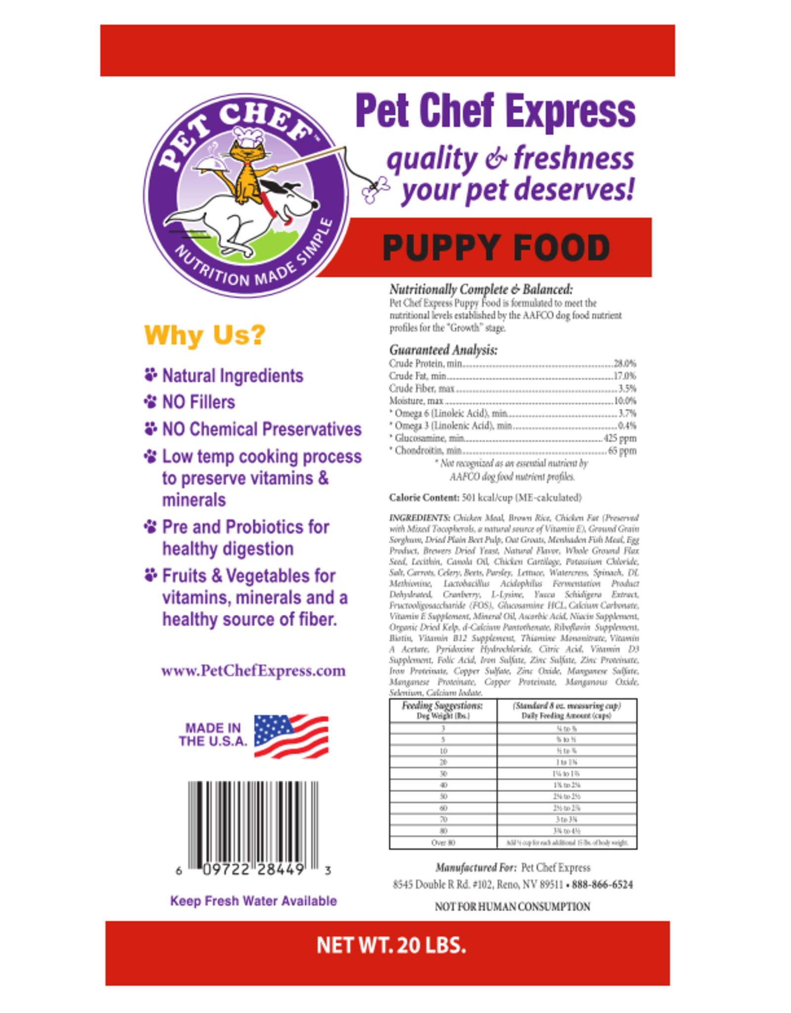 Pet Chef Express PCE Puppy