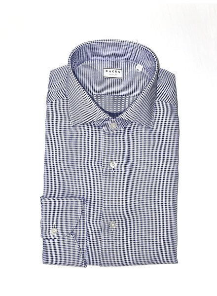 Xacus Textured Cutaway Collar Shirt