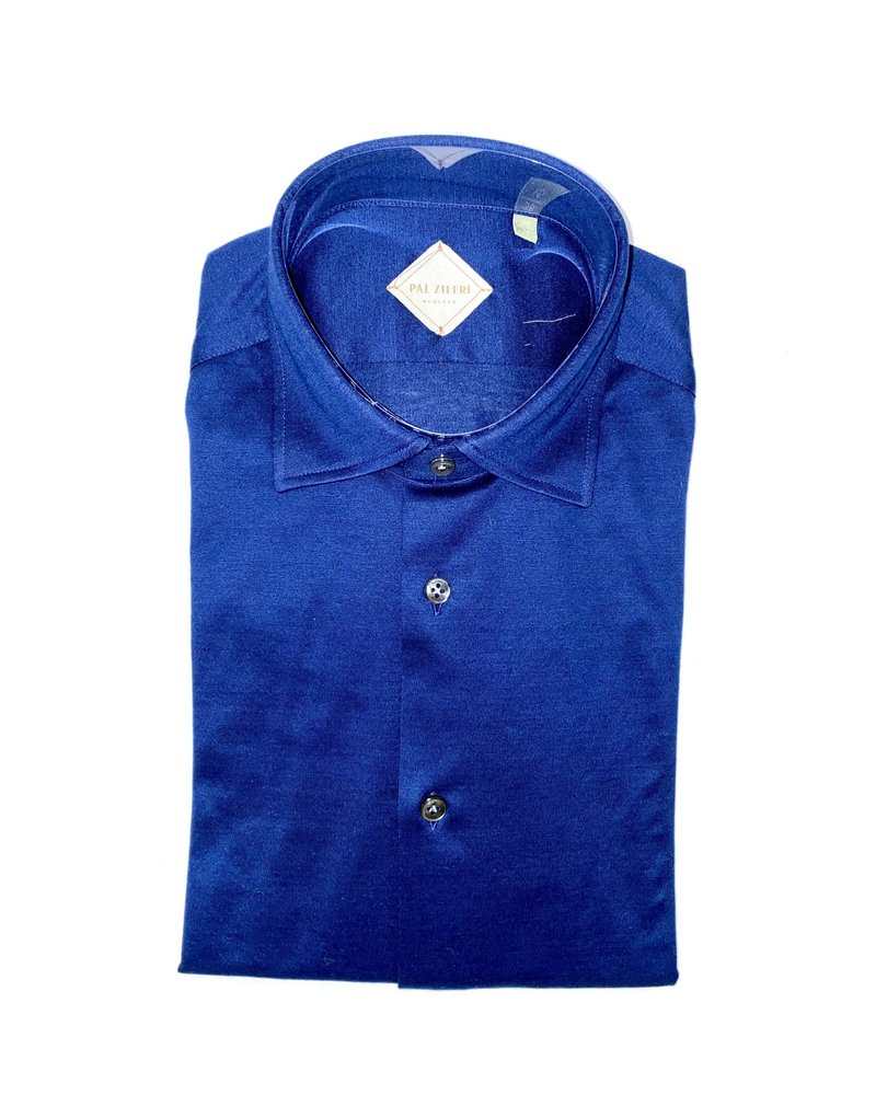 Pal Zileri Pal Zileri Jersey Cotton Shirt With Italian Collar