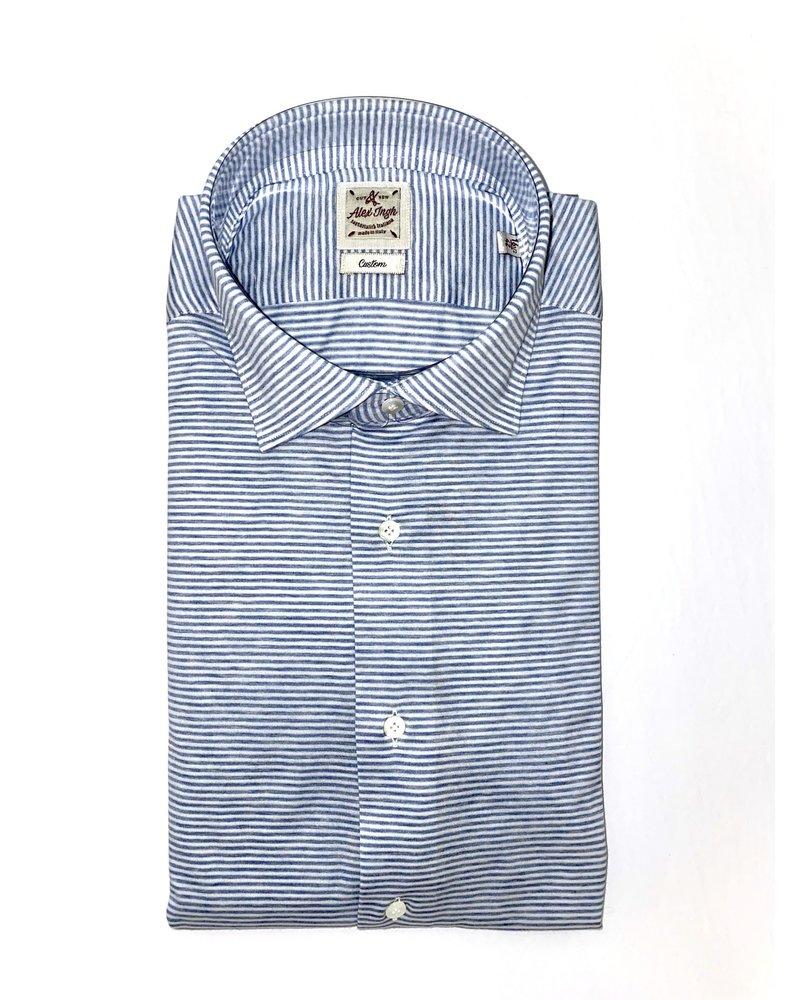 Alex Ingh Alex Ingh Horizontal Striped Shirt
