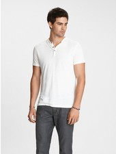 John Varvatos Short Sleeve Burnout Henley