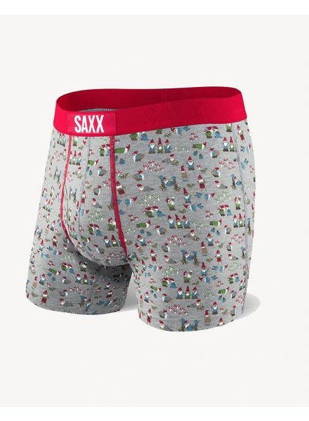 SAXX ULTRA Boxer Brief / Grey Naughty Gnomes