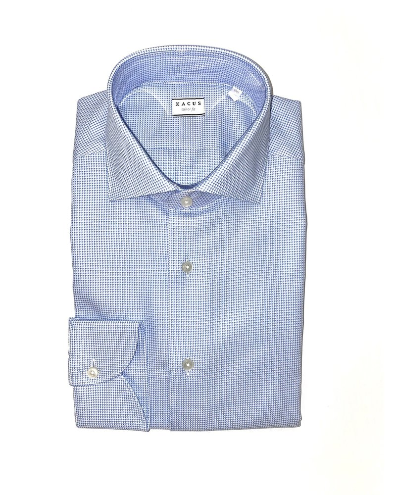 Xacus Xacus Textured Cutaway Collar Shirt