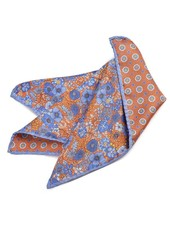Dion Double Printed Panama Reversible Pocket Square