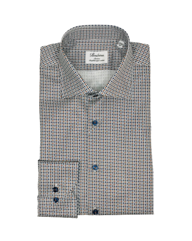 Stenstroms Stenstroms Micro Patterned Slimline Shirt
