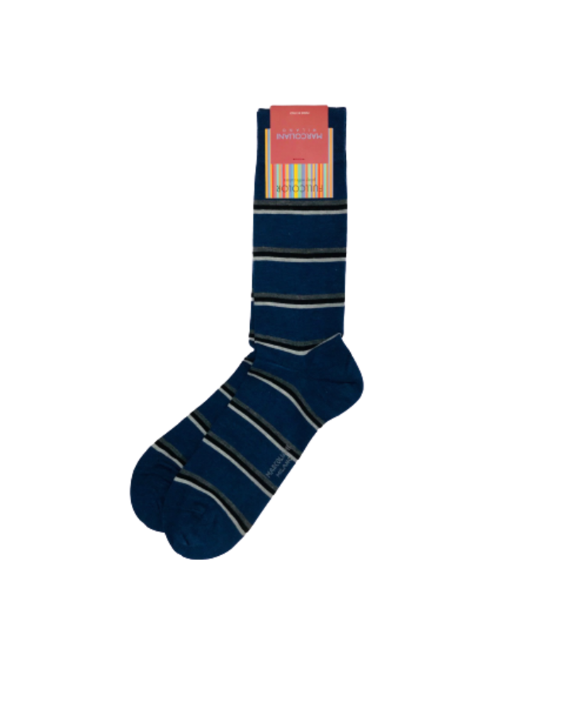 Marcoliani Marcoliani Pima Cotton Socks - Gap Stripe