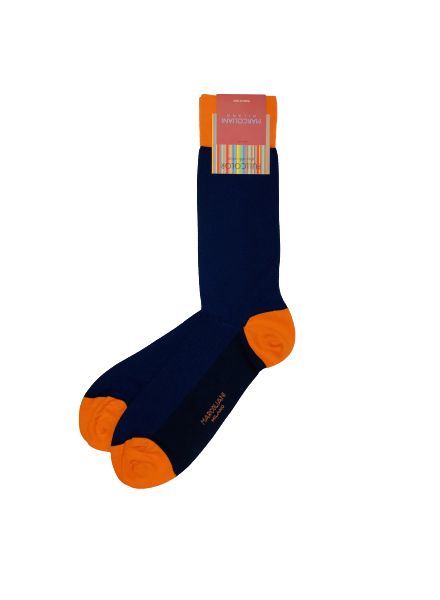 Marcoliani Pima Cotton Socks - Textured Two-tone