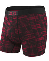 SAXX VIBE Boxer Brief / Red Patched Plaid