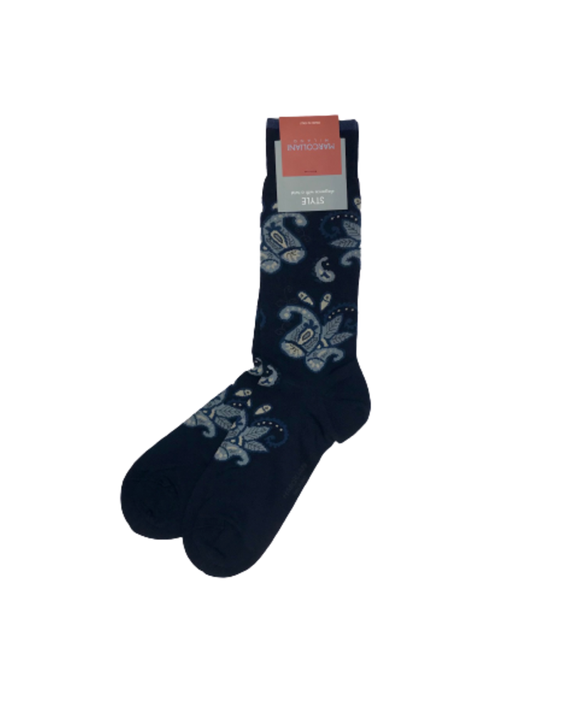 Marcoliani Marcoliani Pima Cotton Socks - Floral Paisley