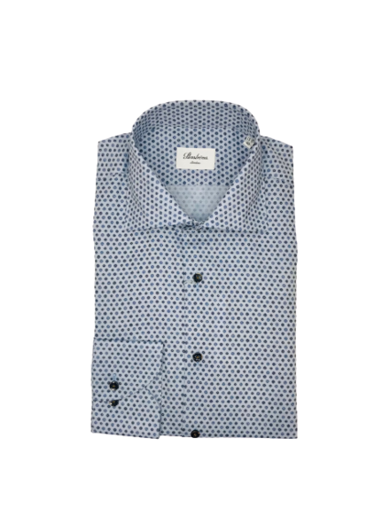 Stenstroms Blue Medallion Slimline Shirt