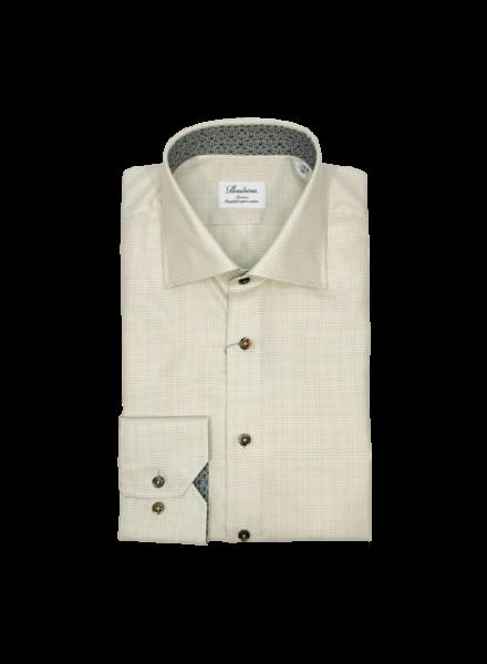 Stenstroms Taupe Slimline Shirt w. Contrast